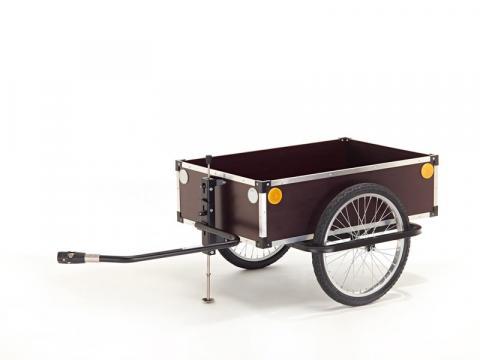Houten fietskar voor visgerief, rommelmarkten en boodschappen