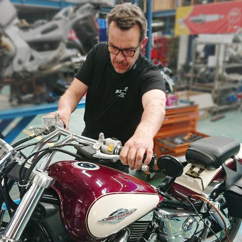Wim, monteur bij Bike Parts