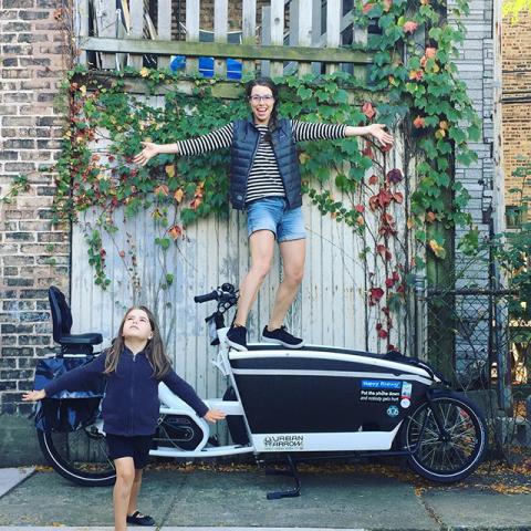 Urban Arrow bakfiets voor het vervoeren van goederen, dieren en kinderen