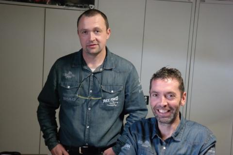 Johan en Marc Geerinck van Bike Parts Zele