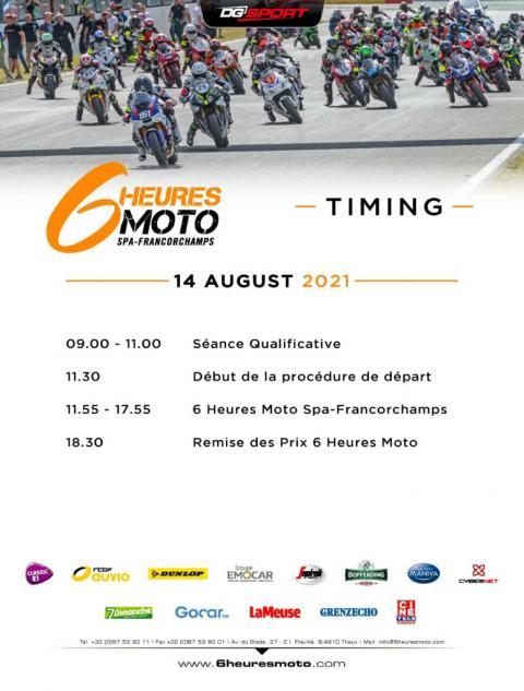 Timing 6h moto 2021