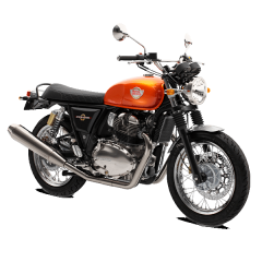 Royal Enfield Interceptor Orange Crush bij Bike Parts