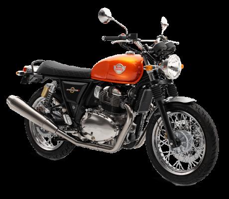 Royal Enfield Interceptor Orange Crush bij Bike Parts