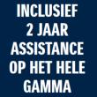 Inclusief 2 jaar assistance op het hele gamma